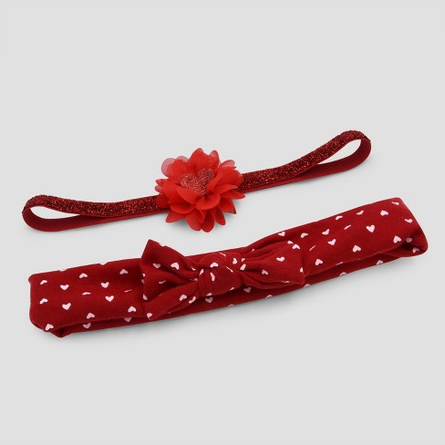 Baby Girls  2pk Headwraps - Just One You® Made By Carter s Red One Size    Target 0f0cacdfd79