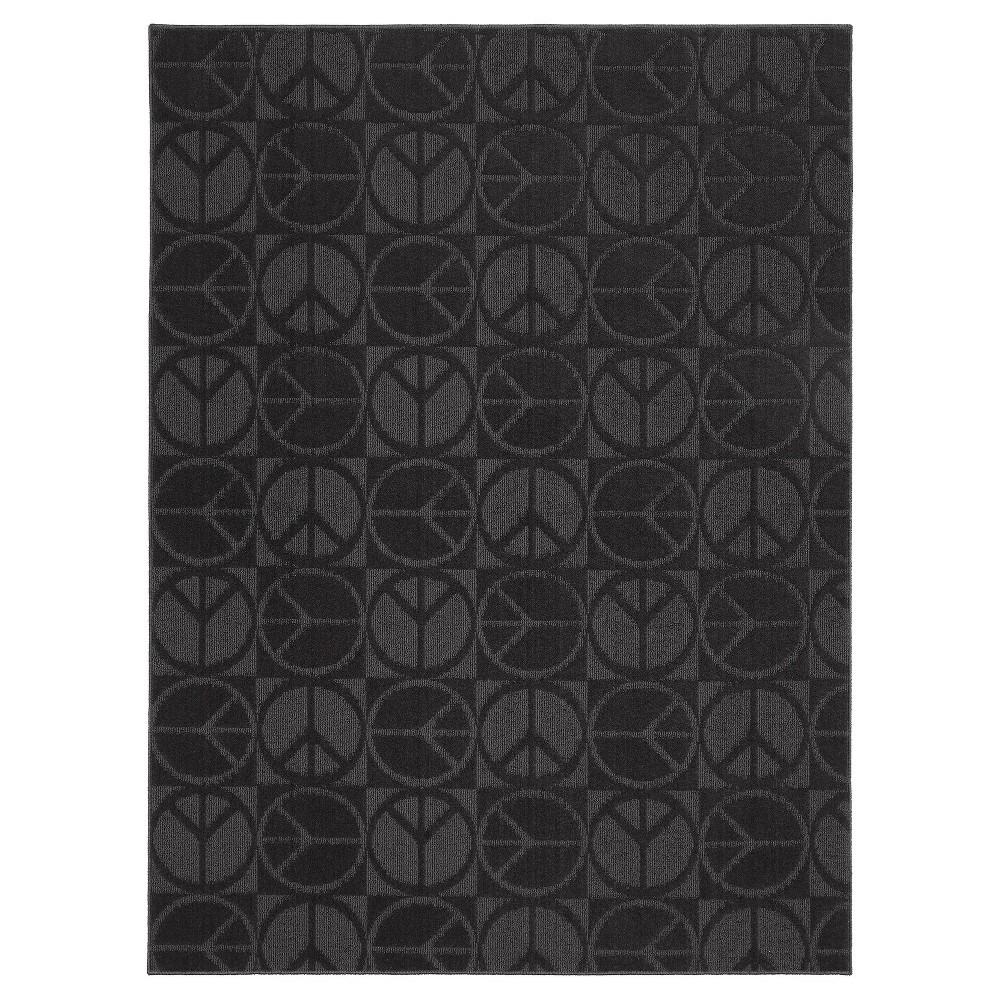 Garland Large Peace Area Rug - Black (60