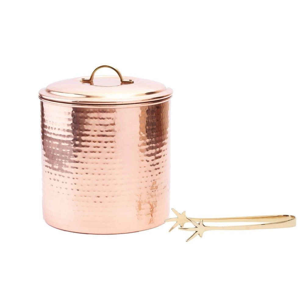 Image of Old Dutch 3qt Stainless Steel Ice Bucket with Brass Tongs