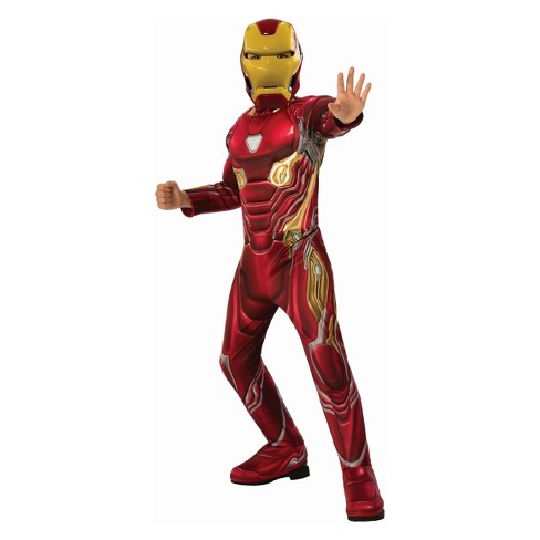 Kids' Iron Man Deluxe Muscle Halloween Costume