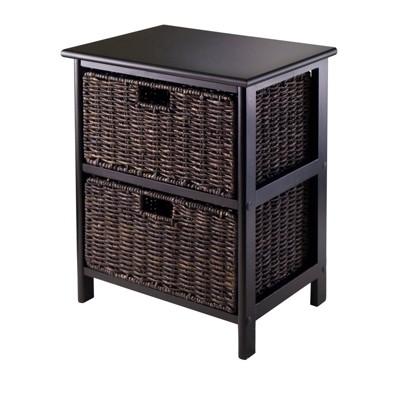 Omaha Storage Rack with Baskets Black - Winsome