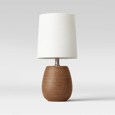 Polyresin Wood LED Accent Lamp Brown (Includes Energy Efficient Light Bulb)- Threshold™