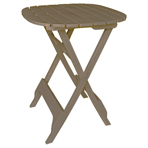 40 quik fold square bistro table tan adams target about this item watchthetrailerfo