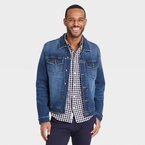 Men's Denim Trucker Jacket - Goodfellow & Co™ Blue - image 1 of 2