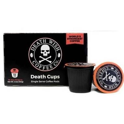 Death Wish Dark Roast Coffee - Single Serve Pods - 10ct
