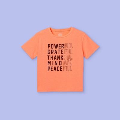 Girls' Boxy Graphic T-Shirt - More Than Magic™ Neon Peach