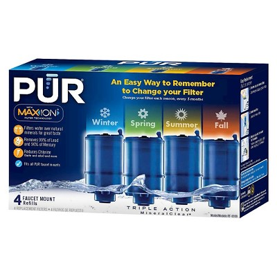 PUR MineralClear® Replacement Faucet Filter, 4pk