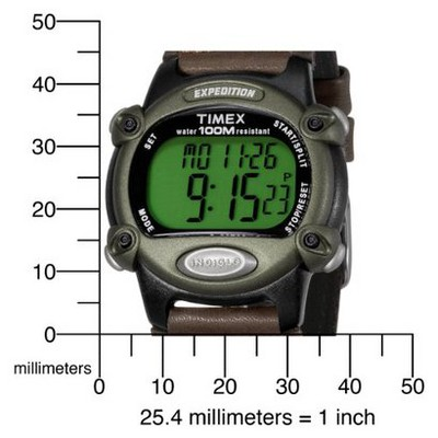 Men's Timex Expedition Digital Watch with Nylon/Leather Strap - Black/Brown T48042JT, Size: Small
