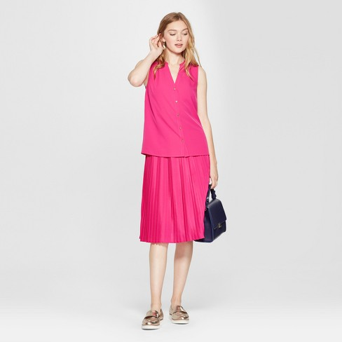28489ebe16757 Women s Sleeveless Button Front Blouse - A New Day™ Magenta. Shop all A New  Day