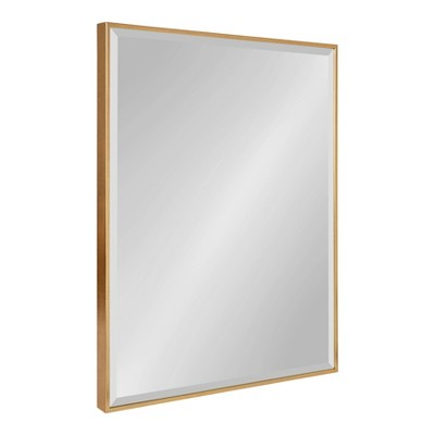 "22.75"" x 28.75"" Rhodes Framed Wall Mirror Gold - Kate and Laurel"