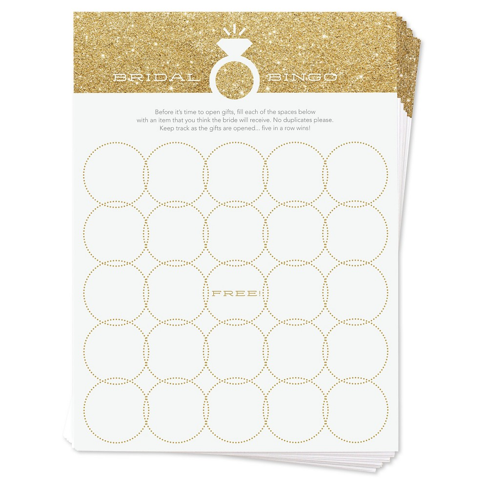 Image of 12ct Baby Shower Bingo Game Cards Gold