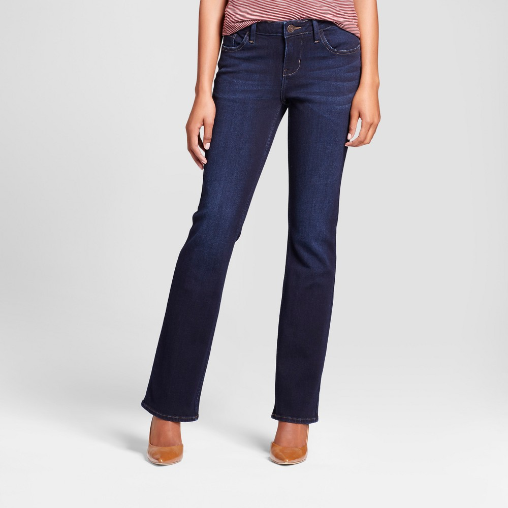 Women's Curvy Fit Signature Bootcut Jeans - Crafted by Lee Dark Denim Wash 0 Long