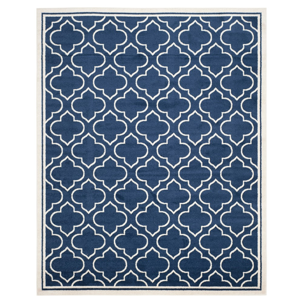 Coco 9'x12' Indoor/Outdoor Rug - Navy/Ivory (Blue/Ivory) - Safavieh