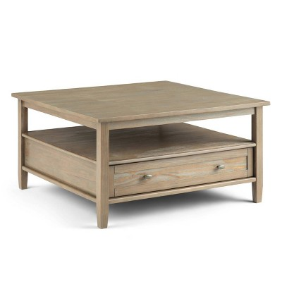 """36"""" Norfolk Square Coffee Table Gray - Wyndenhall"""