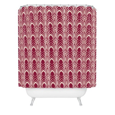 Gabriela Fuente Holiday Classic Shower Curtain Red - Deny Designs