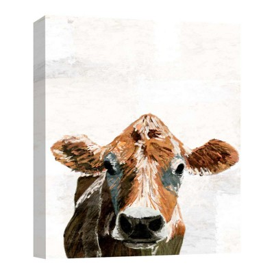 Cow Decorative Canvas Wall Art 11 x14  - PTM Images