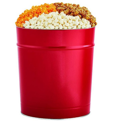 The Popcorn Factory Popcorn Gift Tin, Simply Red, 3.5 Gallons (Robust Cheddar, Butter, Caramel). - image 1 of 1