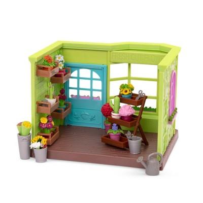 Li'l Woodzeez Store Playset with Accessories 26pc - Li'l Petals Flower Shop