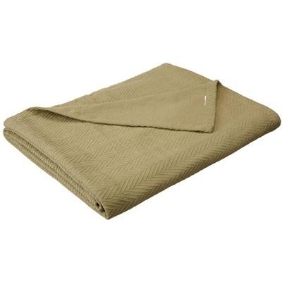 All-Season Cotton Basket-Weave Blanket - Blue Nile Mills