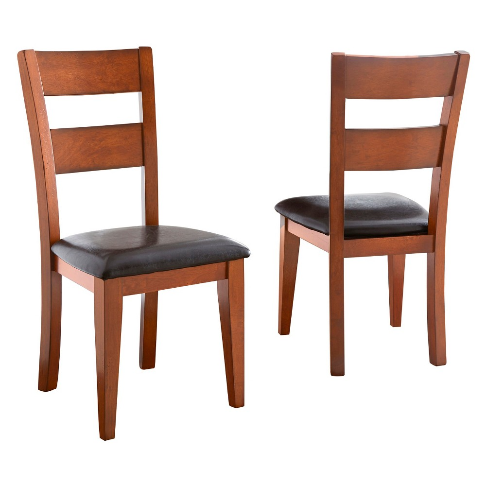 Amanda Side Chairs Wood/Brown (Set of 2) - Steve Silver Company