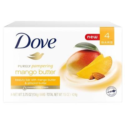 Dove Mango & Almond Butter Beauty Bar Soap - 3.75oz/4ct