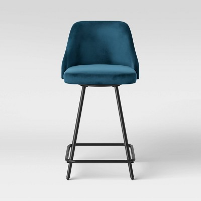 Tovin Adjustable Height Barstool Velvet - Project 62™