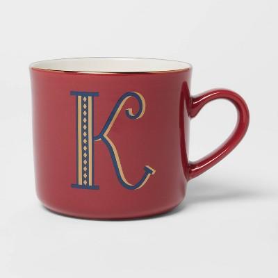 16oz Stoneware Monogram Mug K - Opalhouse™