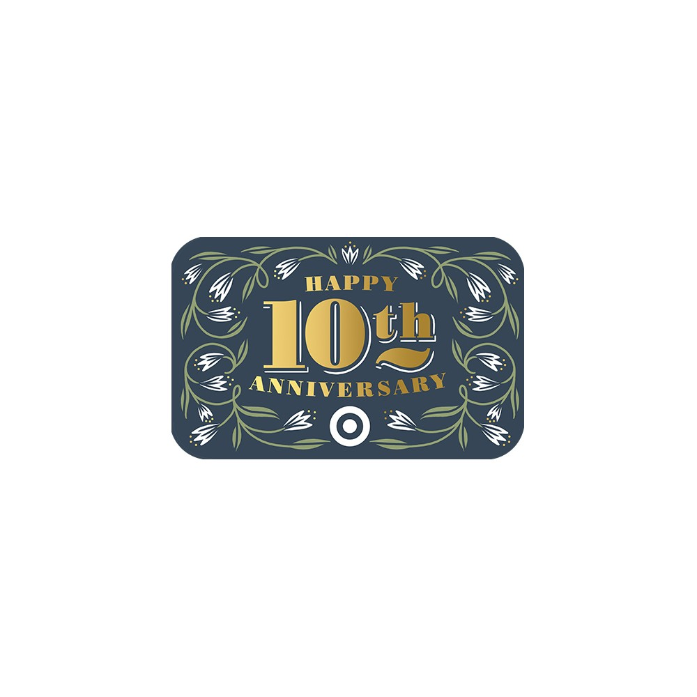 Happy 10th Anniversary GiftCard $15