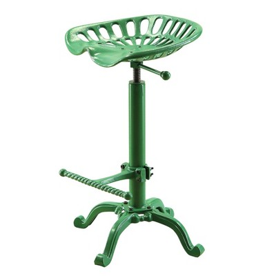 Adjustable Tractor Seat Stool Green   Carolina Chair And Table