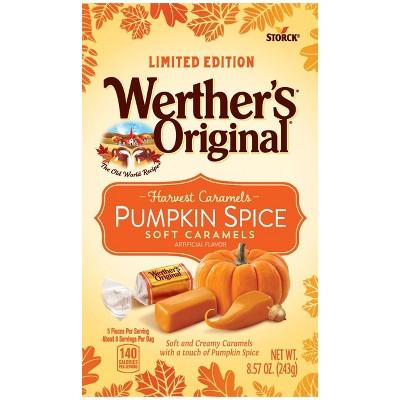 Werther's Halloween Pumpkin Spice Soft Caramels - 8.57oz