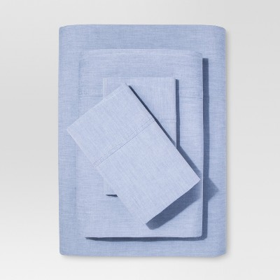 Chambray Sheet Set (Queen)Metallic Blue - Threshold™