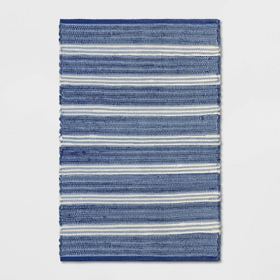 2'X3' Stripe Woven Accent Rug Blue - Threshold™