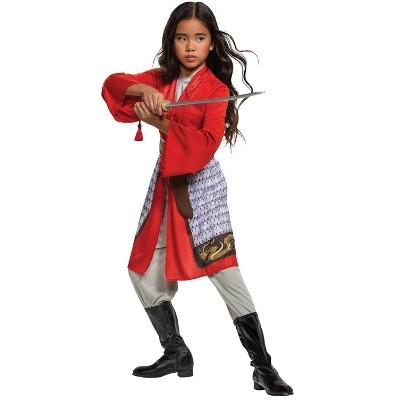 Kids' Mulan Hero Red Dress Classic Halloween Costume
