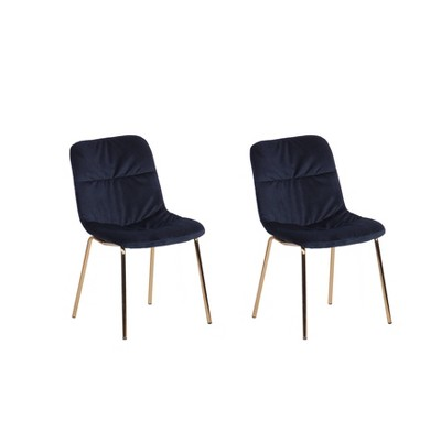 Set of 2 Wells Velvet Dining Chairs - ACEssentials