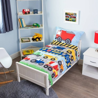 4pc Toddler Funhouse! Transportation Bedding Set
