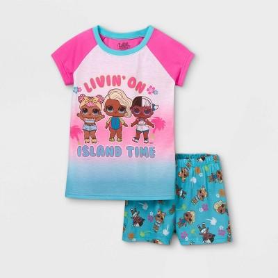 Girls' L.O.L. Surprise! Island Time 2pc Pajama Set - Pink