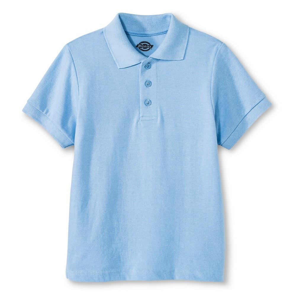 Dickies Boys' Pique Uniform Polo Shirt - Light Blue L