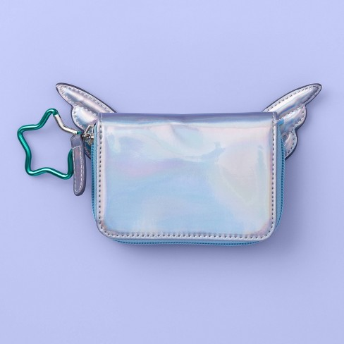 Girls' Star Zip Wallet with Wings - More Than Magic™ Purple - image 1 of 3