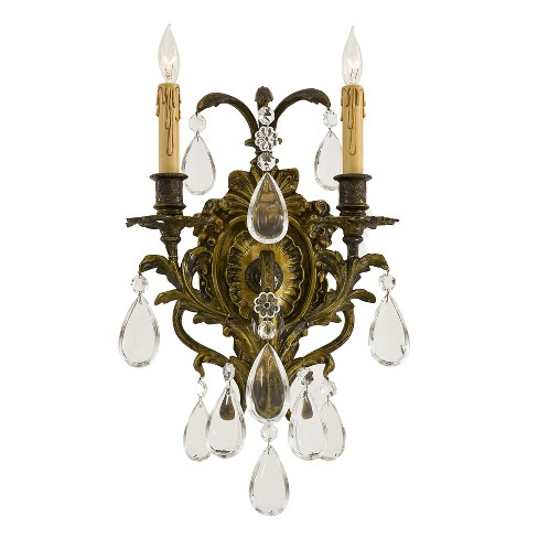 Metropolitan Lighting N2414 2 Light Candle Style Wall Sconce Antique Bronze Patina