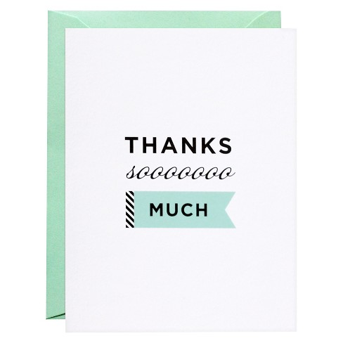 meant to be sent® Thanks Soooo Much Thank You Notecards 8 ct - image 1 of 1