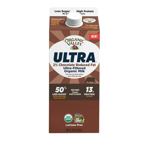 Organic Valley Chocolate 2% Ultra Filtered Milk - 56 fl oz - image 1 of 2