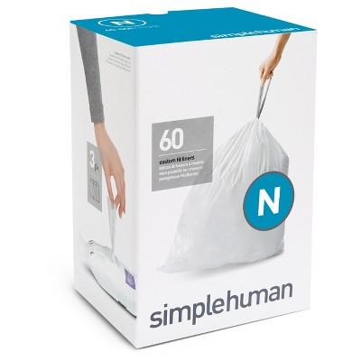 Trash Bags: Simplehuman code N