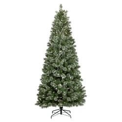 9ft Pre-lit Artificial Christmas Tree Virginia Pine Auto Connect Warm White LED Lights - Wondershop™