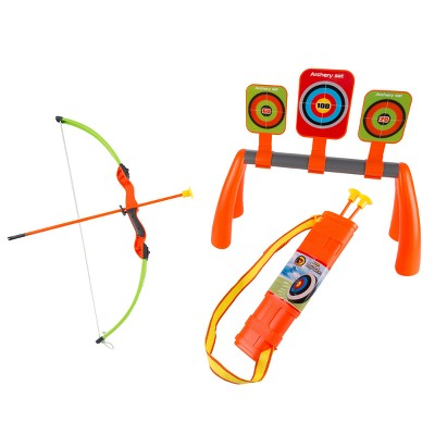 Hey! Play! Kids Bow and Arrow Set with Aim Boards and Quiver