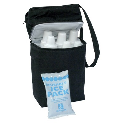 JL Childress 6 Bottle Cooler - Black