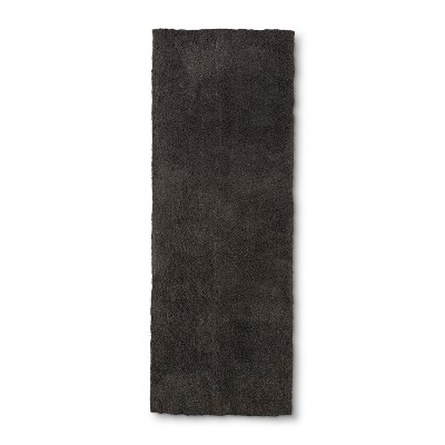 60 x22  Tufted Spa Bath Runner Dark Gray - Fieldcrest®
