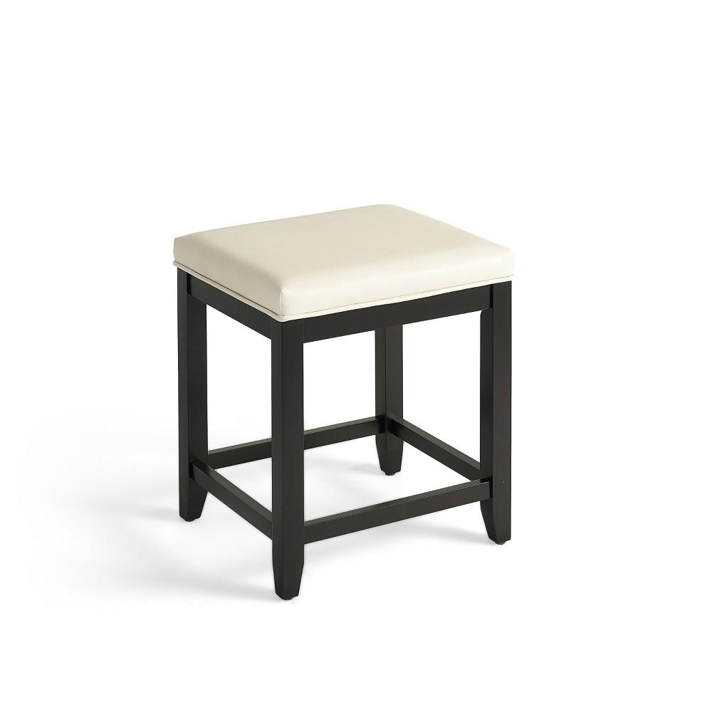 Vista Vanity Stool Black/White - Crosley