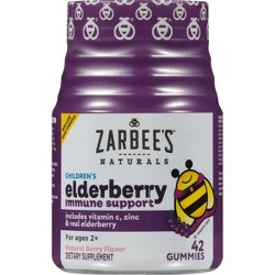 Zarbee's Naturals Children's Elderberry Immune Support Gummies - Natural Berry - 42ct