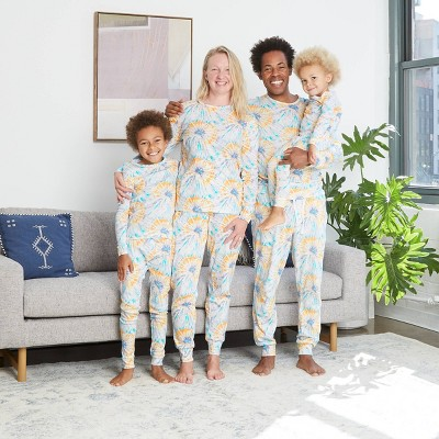 Tie-Dye Print 100% Cotton Matching Family Pajamas Collection