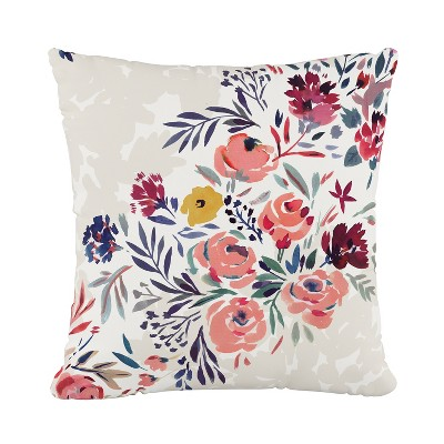 Multi Floral Throw Pillow - Cloth & Company